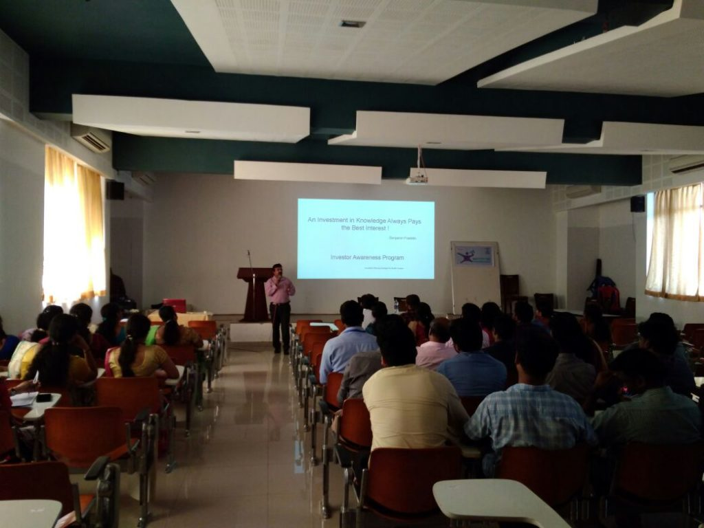 Investor awareness programme for the faculty members of Rajadhani Institute of Engineering and Techn