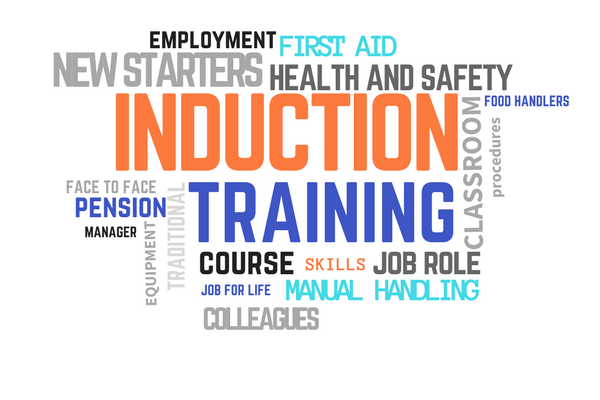 induction training Training provided to new employees by the employer in order to assist in adjustment to their new job tasks and to help them become familiar with their new work environment and the people working around them.
